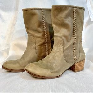 Banana Republic Leather Western Style Boots